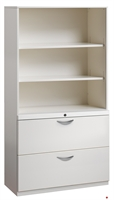 """Picture of 2 Drawer Trace Lateral File Cabinet, 36""""W Steel with Bookcase Hutch"""