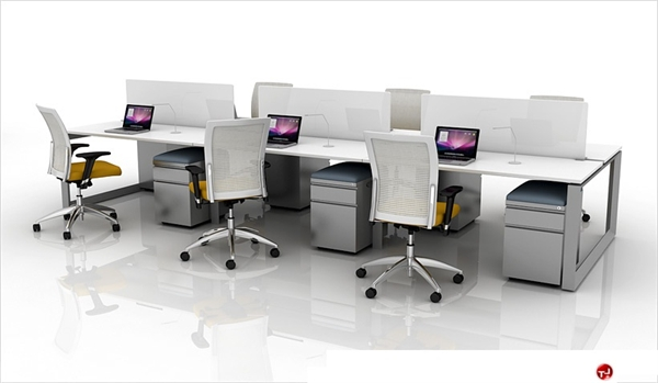 6 Person Bench Seating Teaming Office Desk Workstation