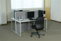 Picture of 2 Person Contemporary Office Desk Computer Workstation